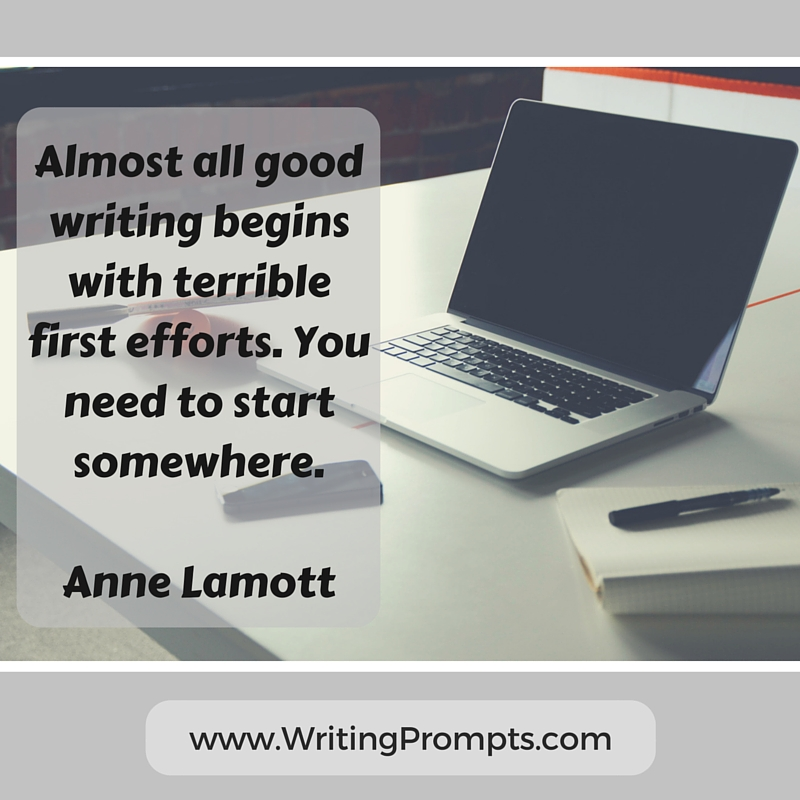Almost all good writing begins