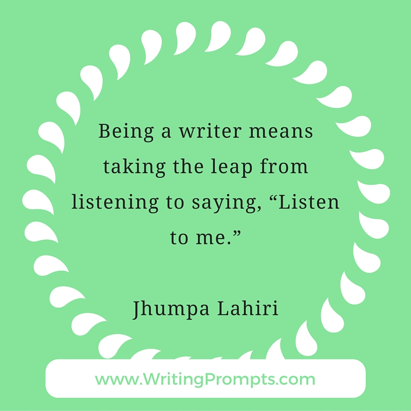 Being a writer means