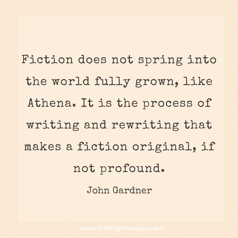 Fiction does not spring