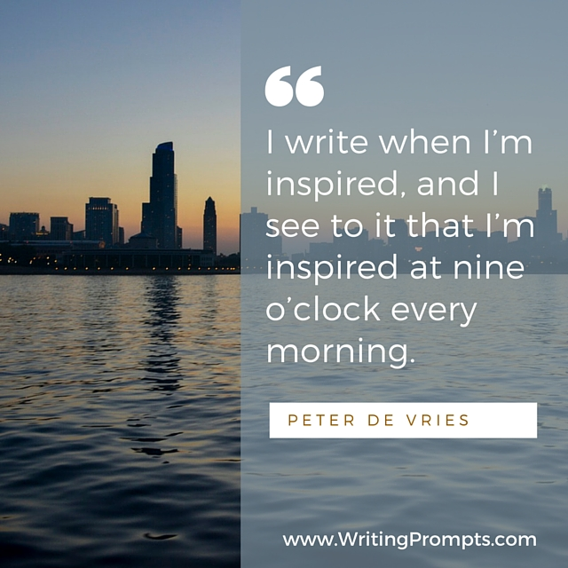write when I'm inspired