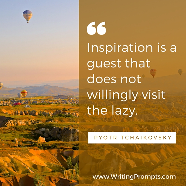 Inspiration is a guest