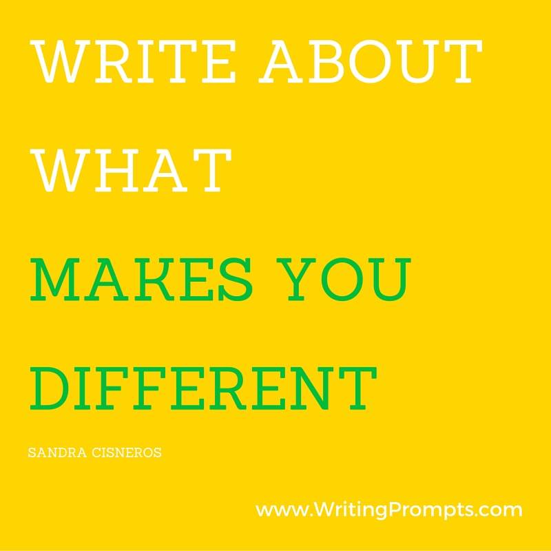 Write about what