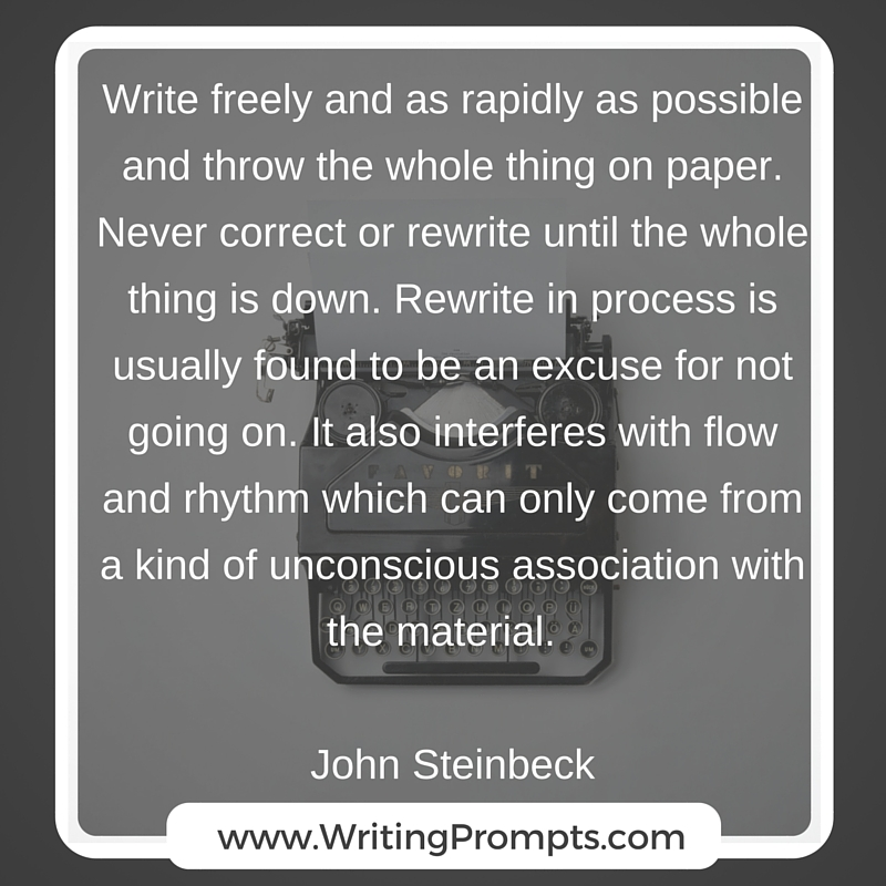 Write freely and as rapidly