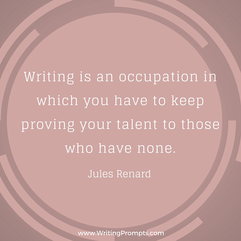 Writing is an occupation