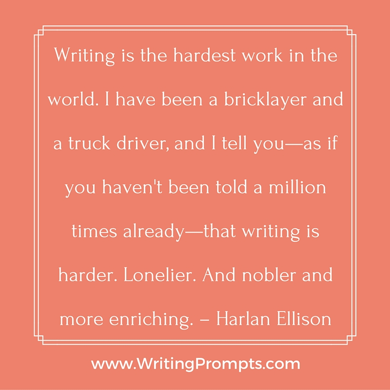Writing is the hardest